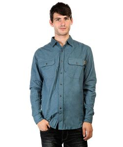 Huf | Рубашка Solid Flannel Work Shirt Blue