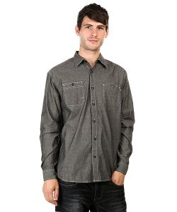 Huf | Рубашка Vintage Chambray Work Shirt Black
