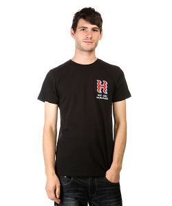 Huf | Футболка Crooked H Tee Black