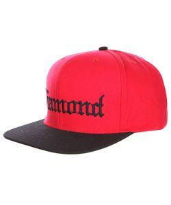 Diamond | Бейсболка С Прямым Козырьком 4 Life Red/Black
