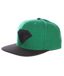 Diamond | Бейсболка С Прямым Козырьком Emblem Green Black