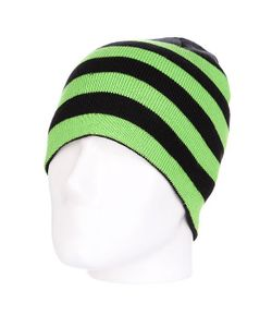 Urban Classics | Шапка Stripe Beanie Black-Limegreen