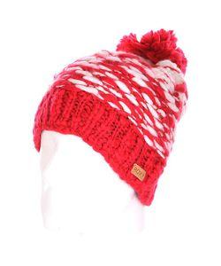 Roxy | Шапка С Помпоном Женская Snow Slide Pompeian Red