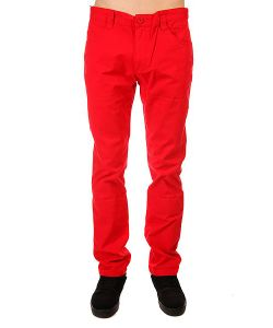 Urban Classics | Штаны Прямые 5 Pocket Pants Red
