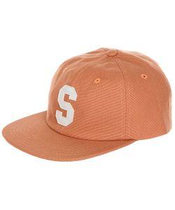Stussy | Бейсболка С Прямым Козырьком Felt S Canvas Strapback Cap