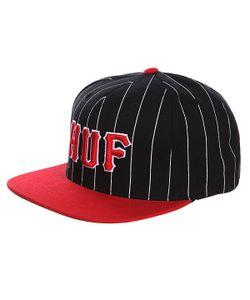 Huf | Бейсболка Classic Pinstripe Starter Black/Red