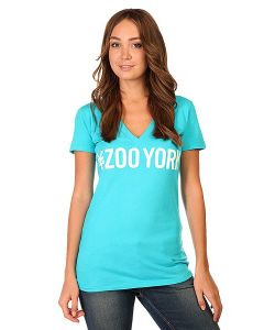 Zoo York | Футболка Женская Logo Block Bluebird