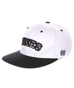 Innes | Бейсболка С Прямым Козырьком League White/Black