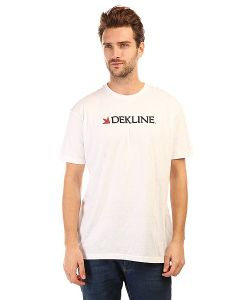 Dekline | Футболка Bar Logo White