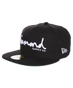 Diamond | Бейсболка С Прямым Козырьком Og Script Fitted Hat Black