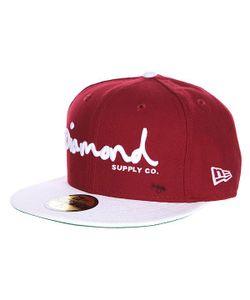 Diamond | Бейсболка С Прямым Козырьком Og Script Fitted Hat Cardinal