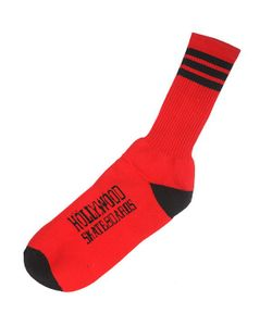 HOLLY WOOD | Носки Hollywood Striped Socks Red/Black