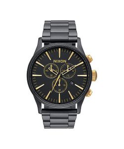 Nixon | Часы Sentry Chrono Matte Black/Gold