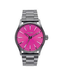 Nixon | Часы Sentry 38 Ss Gunmetal/Pink Sunray