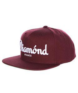 Diamond | Бейсболка С Прямым Козырьком Champagne Snapback Maroon