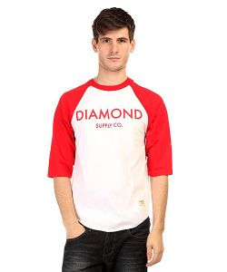 Diamond | Лонгслив Classic Raglan White/Red