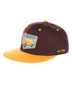 Запорожец | Бейсболка С Прямым Козырьком Авто Снэп Brown/Yellow