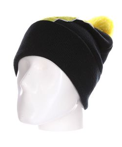 Truespin | Шапка Abc Pompom Beanie Black/Yellow F