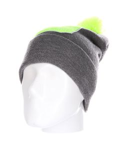 Truespin | Шапка Abc Pompom Beanie Grey/Lime D