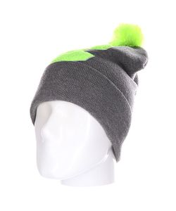 Truespin | Шапка Abc Pompom Beanie Grey/Lime C