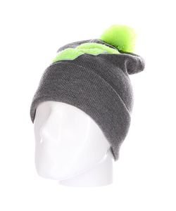Truespin | Шапка Abc Pompom Beanie Grey/Lime F