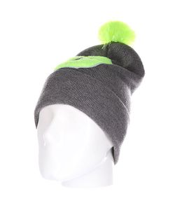 Truespin | Шапка Abc Pompom Beanie Grey/Lime G