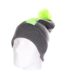 Truespin | Шапка Abc Pompom Beanie Grey/Lime R