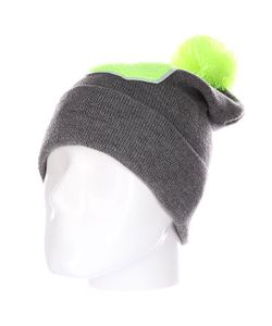 Truespin | Шапка Abc Pompom Beanie Grey/Lime S