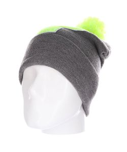 Truespin | Шапка Abc Pompom Beanie Grey/Lime P