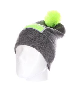 Truespin | Шапка Abc Pompom Beanie Grey/Lime L