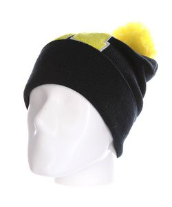 Truespin | Шапка Abc Pompom Beanie Black/Yellow H