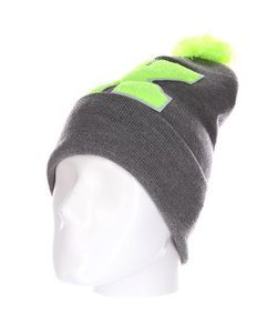 Truespin | Шапка Abc Pompom Beanie Grey/Lime K