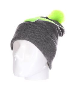 Truespin | Шапка Abc Pompom Beanie Grey/Lime Y