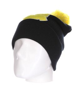 Truespin | Шапка Abc Pompom Beanie Black/Yellow Q