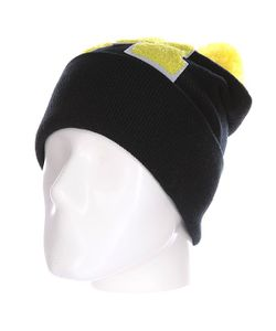 Truespin | Шапка Abc Pompom Beanie Black/Yellow M
