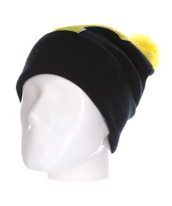 Truespin | Шапка Abc Pompom Beanie Black/Yellow Y