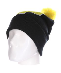 Truespin | Шапка Abc Pompom Beanie Black/Yellow P