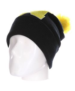 Truespin | Шапка Abc Pompom Beanie Black/Yellow N