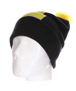 Truespin | Шапка Abc Pompom Beanie Black/Yellow E