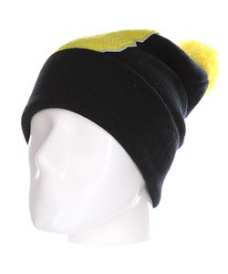 Truespin | Шапка Abc Pompom Beanie Black/Yellow B