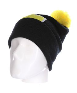 Truespin | Шапка Abc Pompom Beanie Black/Yellow L