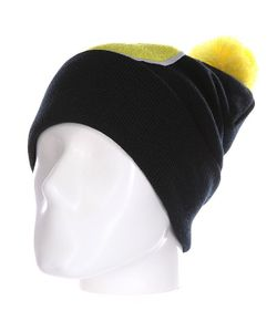 Truespin | Шапка Abc Pompom Beanie Black/Yellow S