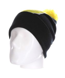 Truespin | Шапка Abc Pompom Beanie Black/Yellow G