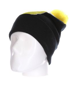 Truespin | Шапка Abc Pompom Beanie Black/Yellow J