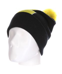 Truespin | Шапка Abc Pompom Beanie Black/Yellow Z