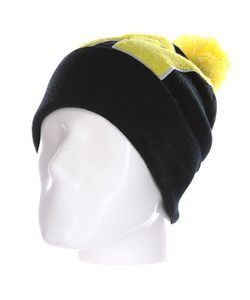 Truespin | Шапка Abc Pompom Beanie Black/Yellow W
