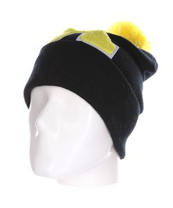 Truespin | Шапка Abc Pompom Beanie Black/Yellow X