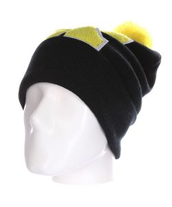Truespin | Шапка Abc Pompom Beanie Black/Yellow K