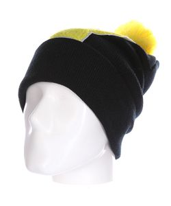 Truespin | Шапка Abc Pompom Beanie Black/Yellow V