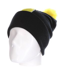 Truespin | Шапка Abc Pompom Beanie Black/Yellow I